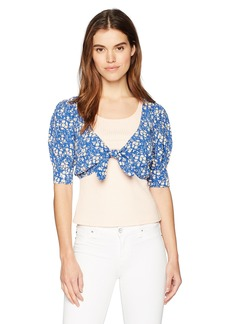 For Love & Lemons Women's Zamira Floral Crop Top  XS