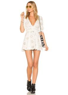 For Love & Lemons X REVOLVE Eyelet Dress in White. - size L (also in M,S,XS)
