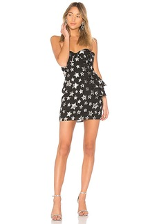 For Love & Lemons X REVOLVE Strapless Bow Dress in Star in Black. - size S (also in L,M,XS)
