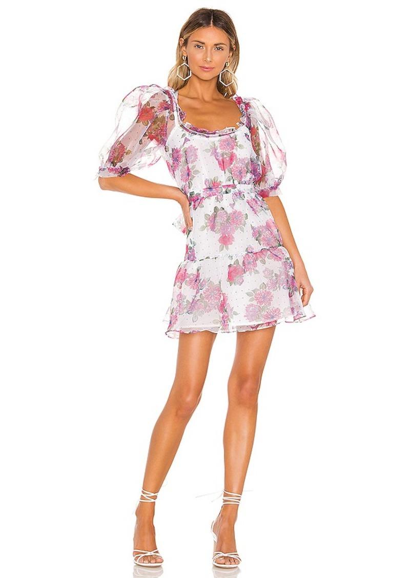 For Love & Lemons X REVOLVE Volume Sleeve Fit And Flare Dress