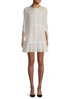 For Love & Lemons Gauze Lace-Trimmed Sundress