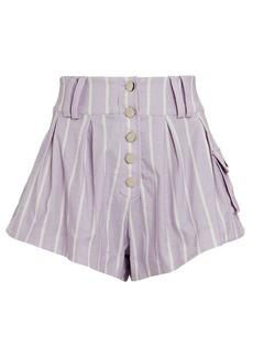 For Love & Lemons Gia Striped Cargo Shorts