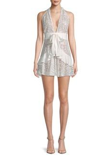 For Love & Lemons Lily Lace Halter Dress