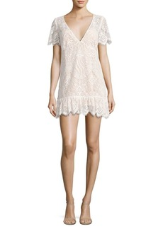 For Love & Lemons Lily Lace Tee Dress