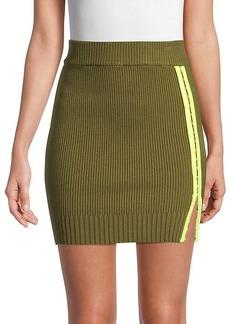 For Love & Lemons Paige Ribbed Mini Skirt