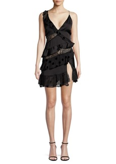 For Love & Lemons Rosalyn Paneled Ruffle Dress