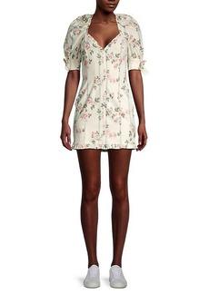 For Love & Lemons Rose Striped Mini Dress