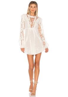 Rosebud Ruffle Mini Dress