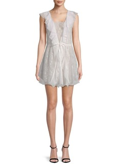 For Love & Lemons Stardust Lace Mini Dress