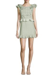 For Love & Lemons Starry Eyed Cotton Mini Dress