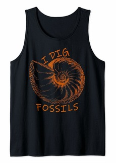 Ammonite Fossil I Dig Fossils Tank Top