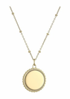 Fossil Casual Round Pendant Chain Necklace