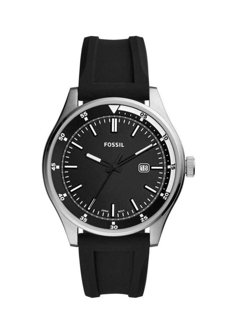 Fossil Belmar Three-Hand Stainless Steel & Silicone Strap Watch