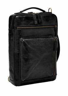 Fossil mens Men s Buckner Leather Large Convertible Sling Bag  10 L x 2.5 W 13.5 H US