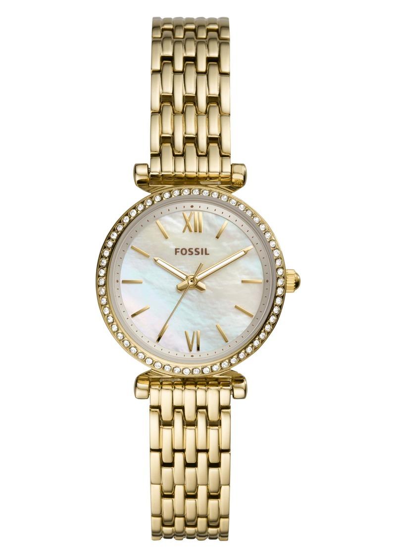 Fossil Carlie Mini Bracelet Watch, 28mm