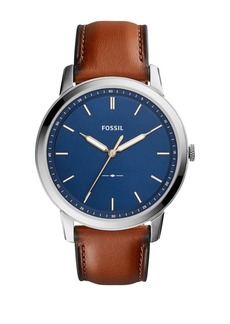 Fossil Casual The Minimalist 3H Blue Dial Watch