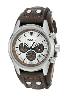 Fossil CH2565 Cuff Chronograph Leather Watch