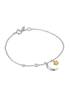 Fossil Chain Bracelet with Moon and Star Motif