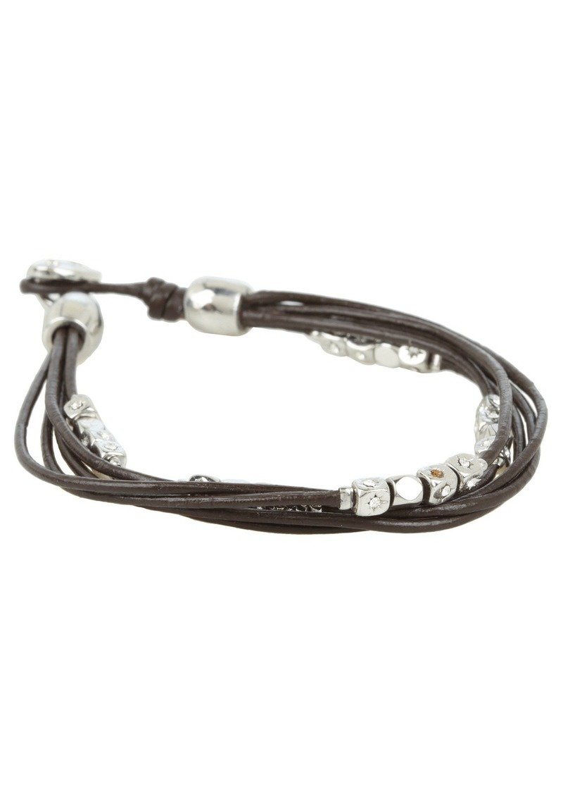 Dainty Strands Leather Wrap Bracelet