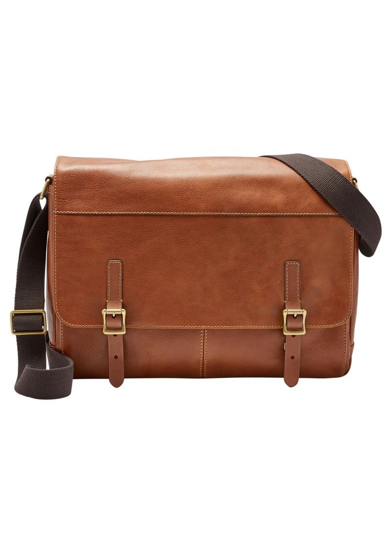 Fossil 'Defender' Leather Messenger Bag