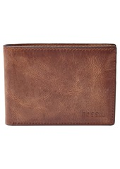 Fossil 'Derrick' Leather Front Pocket Bifold Wallet