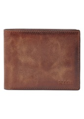 Fossil 'Derrick' RFID Leather Bifold Wallet