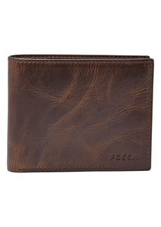 Fossil Derrick RFID Leather Bifold Wallet