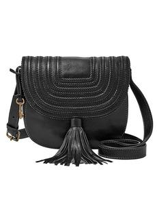 Fossil® Emi Saddle Bag Tassle Crossbody