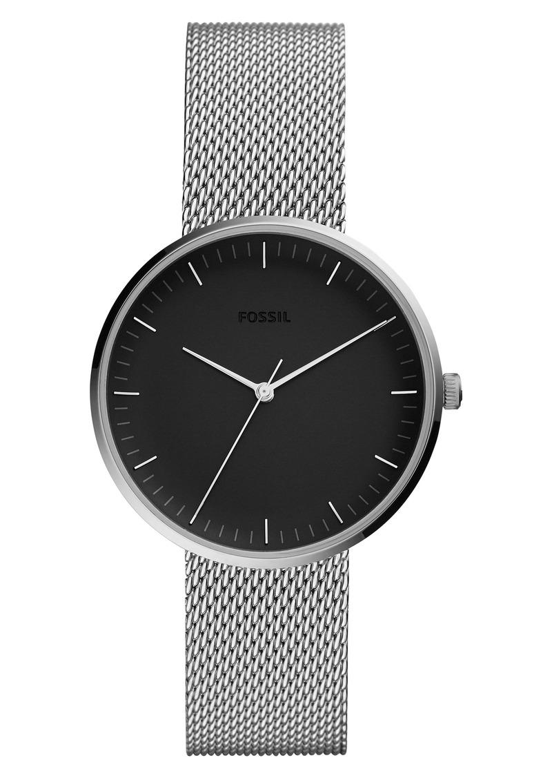 Fossil Essentialist Mesh Bracelet Watch, 38mm