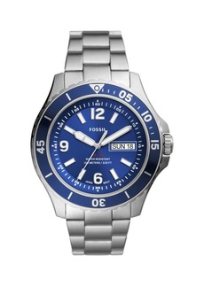 Fossil FB-02 Stainless Steel Bracelet 3-Hand Watch