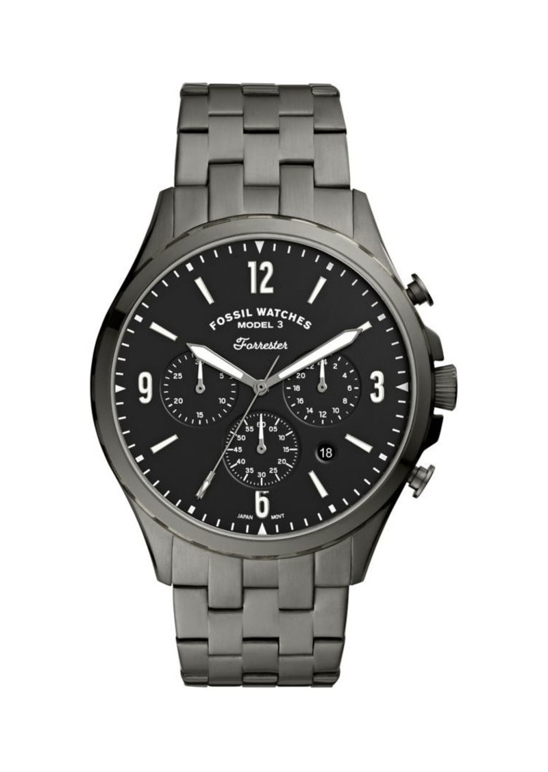 Fossil Forrester Stainless Steel Chronograph Bracelet Watch