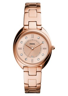 Fossil Gabby Crystal Bracelet Watch, 34mm