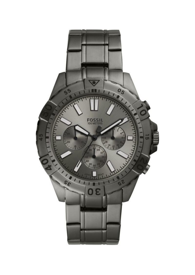 Fossil Garrett Stainless Steel Chronograph Bracelet Watch
