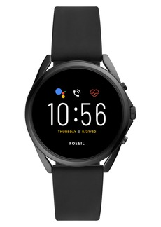 Fossil Gen 5 LTE Touchscreen Silicone Strap Smart Watch, 45mm