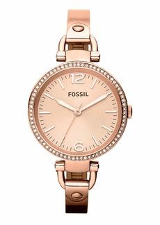 Fossil 'Georgia' Crystal Bezel Watch, 32mm
