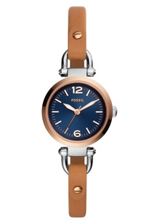 Fossil Georgia Leather Strap Watch, 26mm
