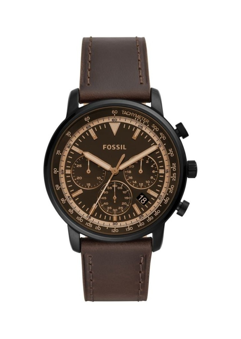 Fossil Goodwin Chrono Brown Leather Strap Watch
