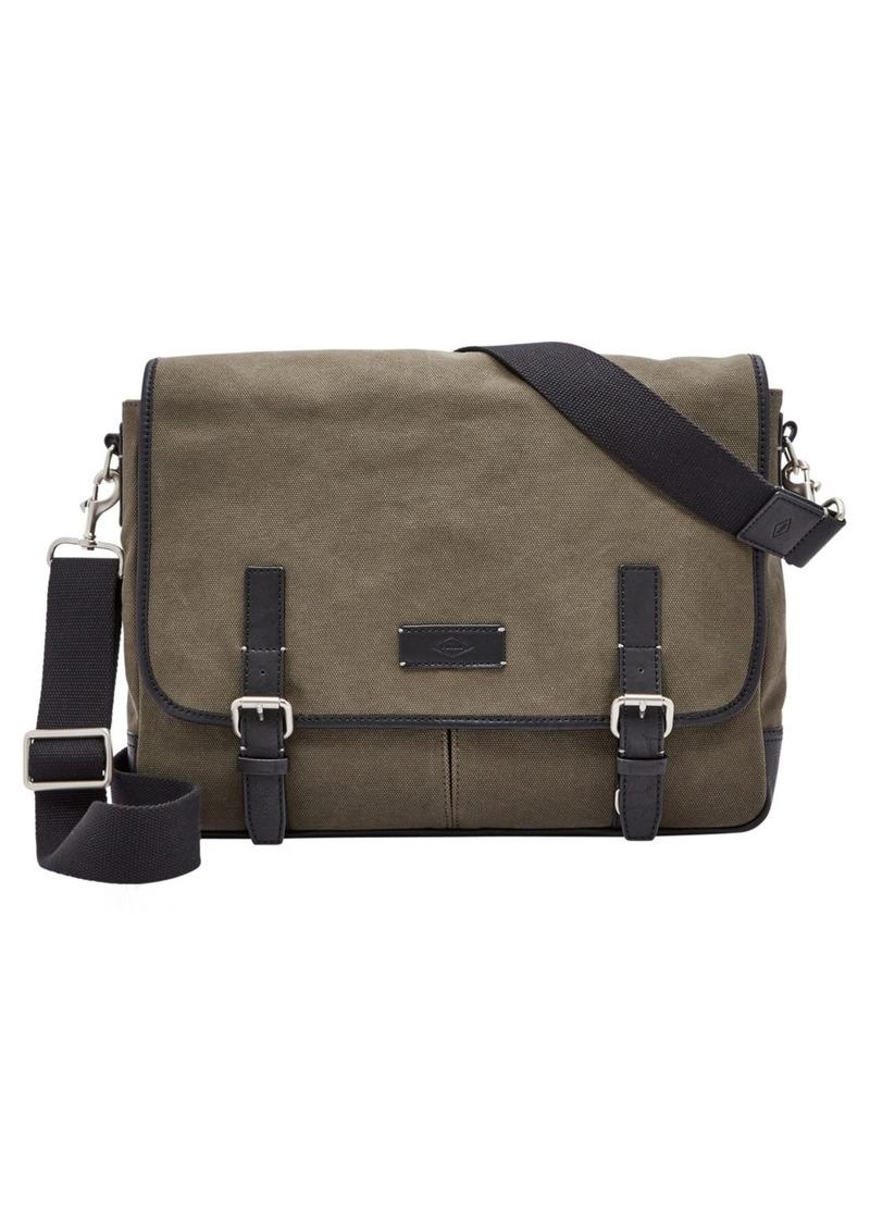 Fossil 'Graham' Canvas Messenger Bag