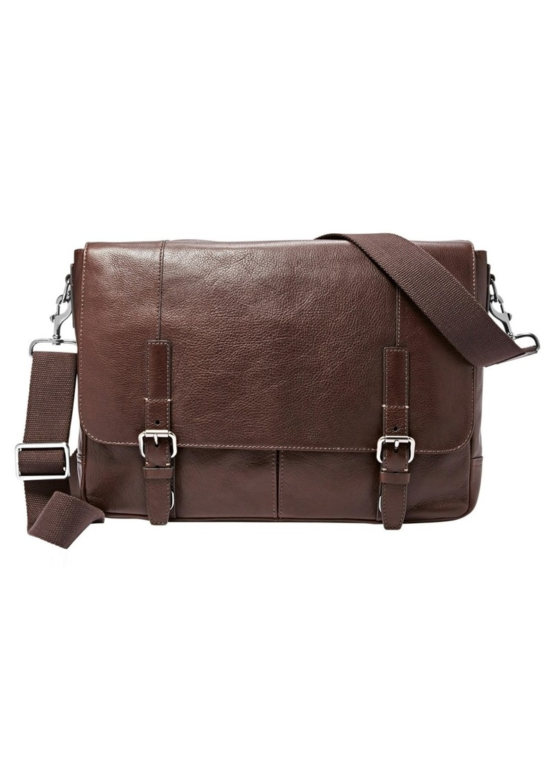 Fossil 'Graham' Leather Messenger Bag