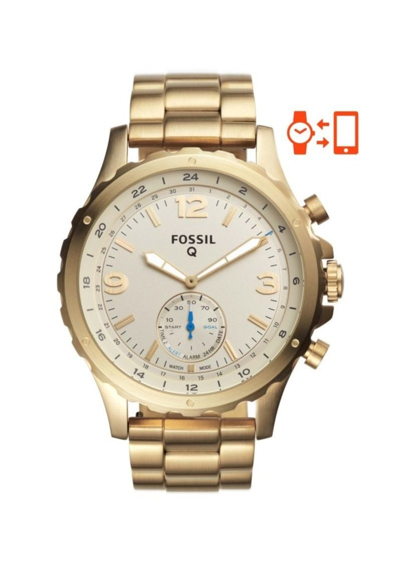 Fossil Hybrid Smart Watch - Q Nate Gold-Tone Stainless Steel