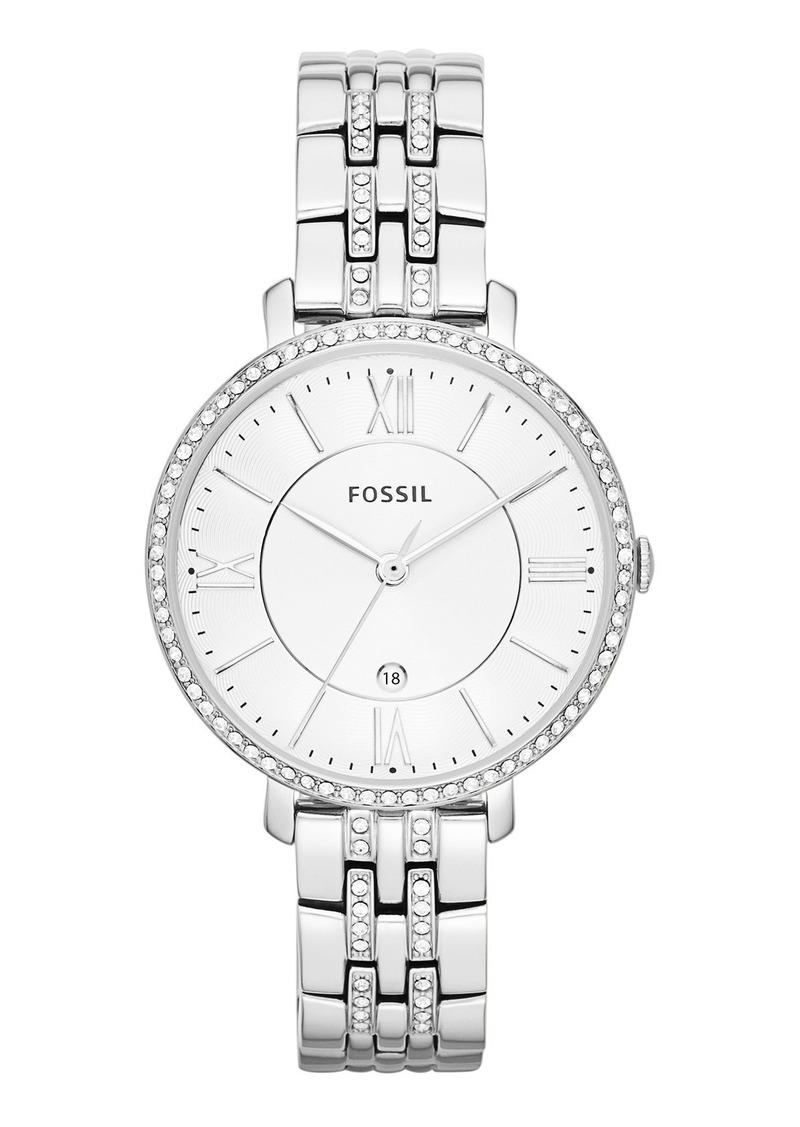 Fossil 'Jacqueline' Crystal Bezel Bracelet Watch, 36mm