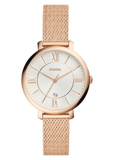 Fossil Jacqueline Mesh Strap Watch, 36mm