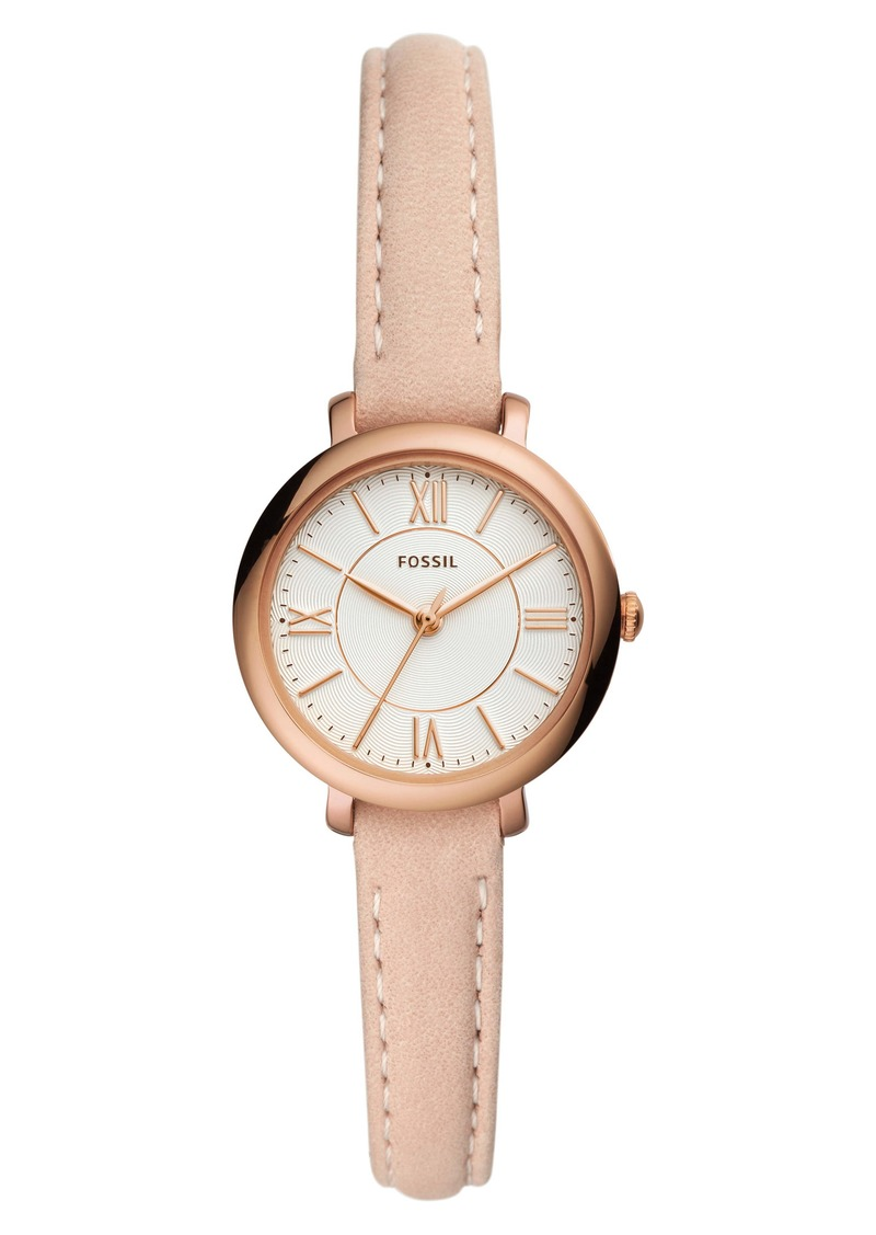 Fossil Jacqueline Mini Leather Strap Watch, 26mm