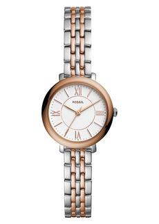 Fossil 'Jacqueline' Round Bracelet Watch, 26mm