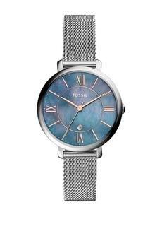 Fossil Jacqueline Three-Hand Date Stainless Steel Bracelet Watch