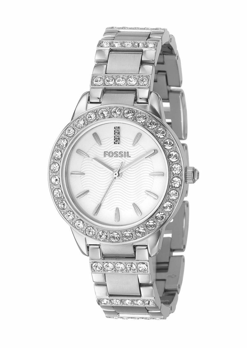 Fossil 'Jesse' Crystal Embellished Bracelet Watch, 34mm