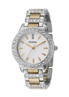 Fossil 'Jesse' Crystal Embellished Bracelet Watch, 34mm