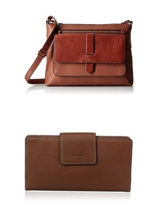 Fossil Kinley Crossbody with Emma Tab Wallet Rfid Brown