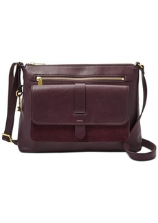 Fossil Kinley Leather & Suede Medium Crossbody