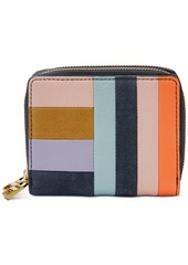 Fossil Leather Patchwork Rfid Mini Multifunctional Wallet